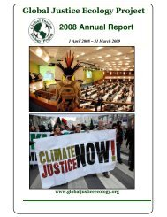 annual report 2008 (compressed).pdf - Global Justice Ecology Project