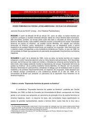 VOZES FEMININAS DA POESIA LATINO-AMERICANA - UNESP-Assis
