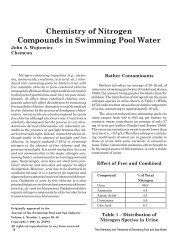 Chemistry of Nitrogen Compounds in Swimming Pool Water - Pleatco