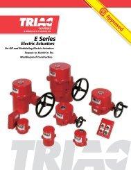Triac E Series Electric Actuators - AT Controls