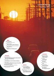 Limmat Verlag Herbst 2013 - Swiss Independent Publishers