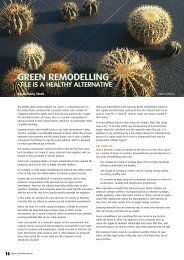 GREEN REMODELLING - Infotile