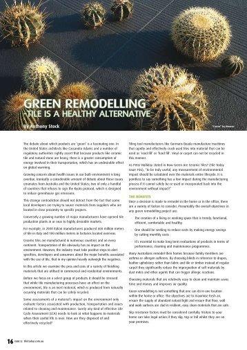 GREEN REMODELLING - Infotile