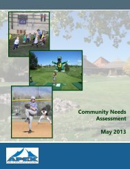 Community Needs Assessment May 2013 - Apex Park and ...