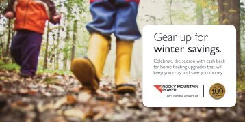 Gear up for winter savings. - Rocky Mountain Power