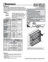 Model SMD-201 Smoke Dampers - Greenheck