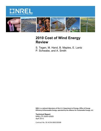 2010 Cost of Wind Energy Review - NREL