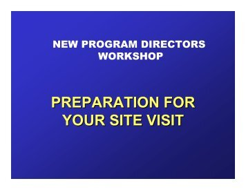 PREPARATION FOR YOUR SITE VISIT - VascularWeb