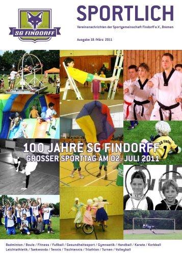 100 JAHRe SG FINDORFF GROSSeR SPORTTAG ... - SG-Findorff eV