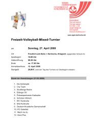 Freizeit-Volleyball-Mixed-Turnier - SG EK Karlsruhe
