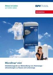 MicroDrop® mini Inhalieren wird leichter - MPV MEDICAL GmbH