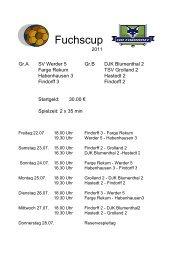 Fuchscup 2011 (2) - SG-Findorff eV