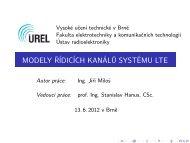 modely řídicích kanálů systému lte - Vysoké učení technické v Brně