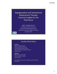Hypogonadism and Testosterone Replacement ... - Pharmacy Times