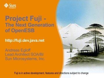 Project Fuji - - Open ESB Wiki - Java