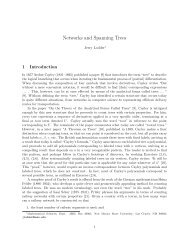 Networks and Spanning Trees - New Mexico State University