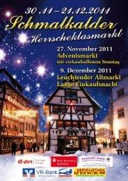 Schmalkalder Herrscheklasmarkt 30.11. bis 21.12.2011