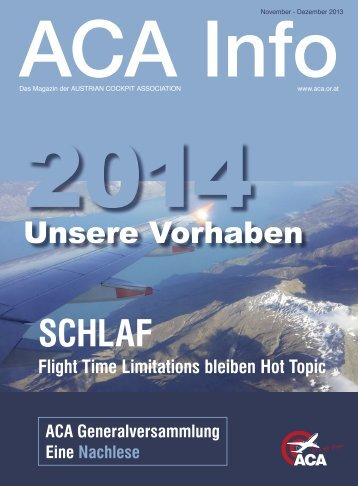 ACA Info November-Dezember 2013 - Austrian Cockpit Association