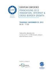 Franchise conference program 2012 nov- 29
