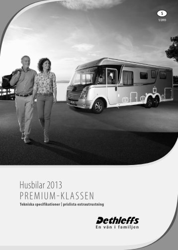 Tekniska data/Prislista husbilar Premium-Klass 2013 - Dethleffs