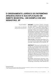 o ordenamento jurídico do patrimônio arqueológico e ... - Reid.org.br