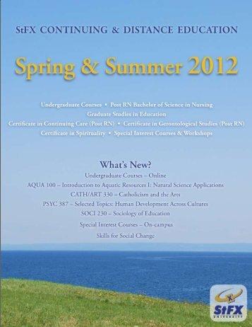 Summer Calendar - St. Francis Xavier University