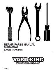 repair parts manual 96012009600 lawn tractor