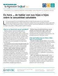 la Agresión Se ual - National Sexual Violence Resource Center