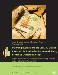 An Evaluative Framework Using Evidence-Centered Design