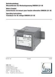 Betriebsanleitung Messumformer für ... - Mbs-ag.com