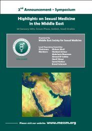 Middle East Society for Sexual Medicine - MESSM