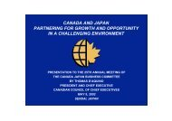 Canada and Japan - Canadian Council of Chief Executives
