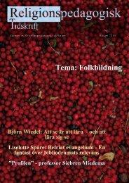 Nr 21 Hösten 2010 - Religionspedagogiskt idéforum