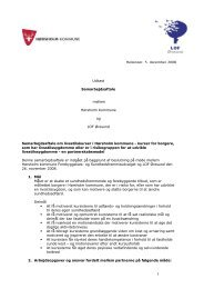 Helsingør, 5. december 2008 Udkast Samarbejdsaftale mellem ...