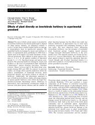 Effects of plant diversity on invertebrate herbivory in experimental ...