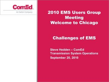 Transmission System Operations Overview - EMS Users Conference