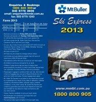 2013 Ski Express Timetable