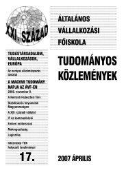 Tudástársadalom, vállalkozások, Európa - Általános Vállalkozási ...