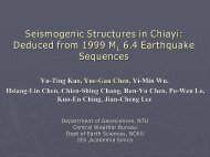 Seismogenic Structures in Chiayi: Deduced from ... - Academia Sinica