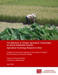 The Relevance of Chinese Agricultural Technologies for African ...