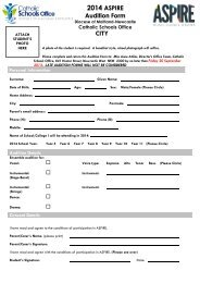 Aspire 2014 Audition Form -