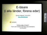 E-läsare i alla länder (förena eder) - Biblioteken.fi