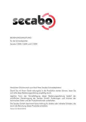 BEDIENUNGSANLEITUNG für die Schneideplotter Secabo C30III ...