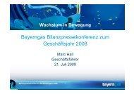 Bayerngas Bilanzpressekonferenz zum ... - Bayerngas GmbH