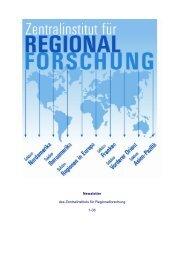 Newsletter 01/2006 - Zentralinstitut für Regionenforschung ...