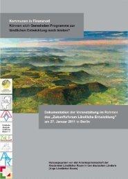 Dokumentation der Begleitveranstaltung Kommunen in Finanznot ...