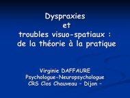 Dyspraxies et troubles visuo-spatiaux : de la théorie à la ... - Resodys