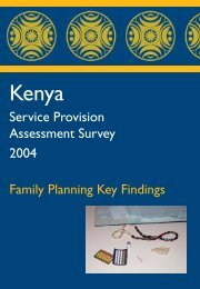 KSPA FP Key Findings 2004 - Family Planning - Measure DHS