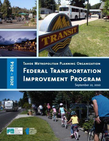 2011 FTIP (core document) - Tahoe Metropolitan Planning ...