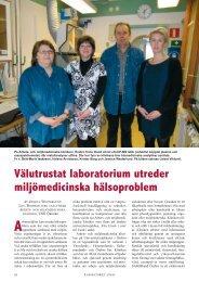 Välutrustat laboratorium utreder miljömedicinska hälsoproblem